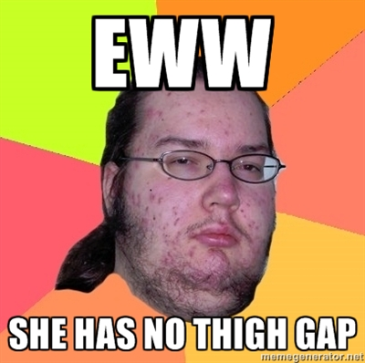 thigh gap meme