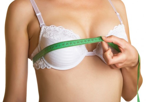 measuring bra size